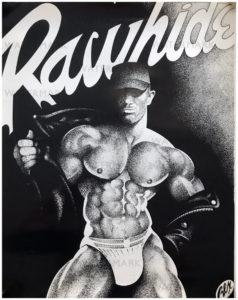 """Vintage REX - RAWHIDE - Print/Poster 24 x 19"""""""