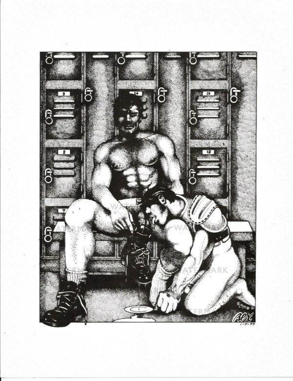 REX 10 - Locker Room - Print Size 11x8.5