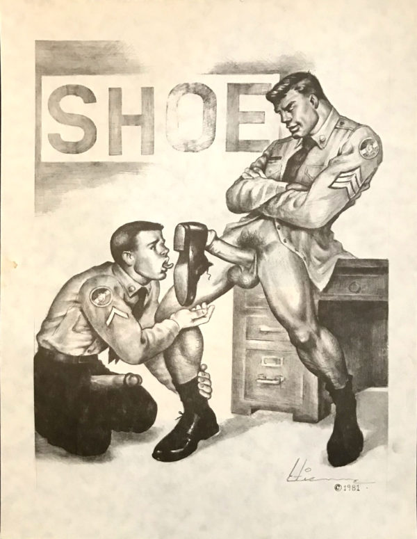 """Tom of Finland - The SHOE - By Etienne 1981 - Print 15.25x11.5"""""""
