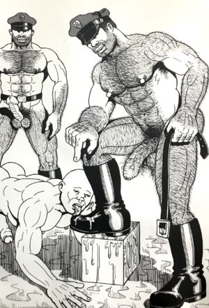 Vintage - The HUN - Hairy Leather Boot Cops - Print 17.25x11""