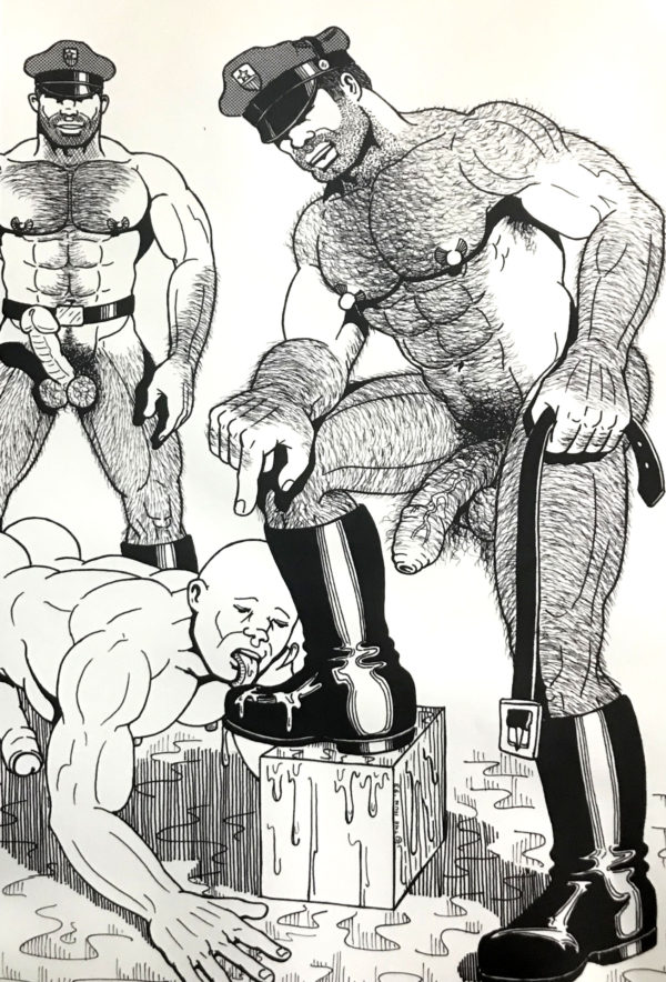 """Vintage - The HUN - Hairy Leather Boot Cops - Print 17.25x11"""""""