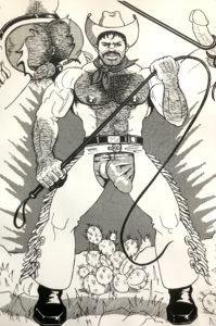"Vintage - The HUN - Hairy Cowboy Whip - Print 17.25x11"""