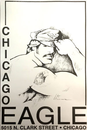 CHICAGO EAGLE - Leather Hat - Vintage Poster - Print 17x11""