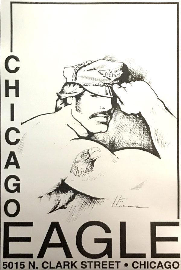 "CHICAGO EAGLE - Leather Hat - Vintage Poster - Print 17x11"""