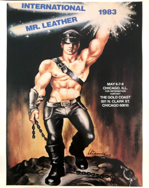 International Mr.Leather 1983 - By Etienne 1982 - Rare Print Poster 22x17""