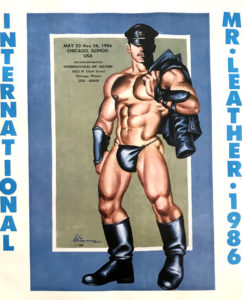 """International Mr.Leather 1986 - By Etienne - Rare Print Poster 21.25x17"""""""