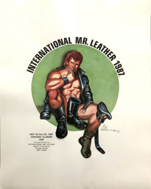 International Mr.Leather 1987 - By Etienne - Rare Print Poster 21.25x17""