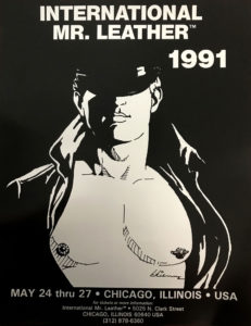 """International Mr.Leather 1991 - By Etienne - Rare Print Poster 22x17"""""""