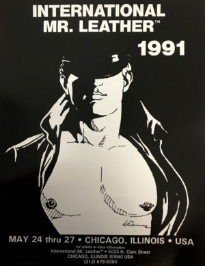 International Mr.Leather 1991 - By Etienne - Rare Print Poster 22x17""