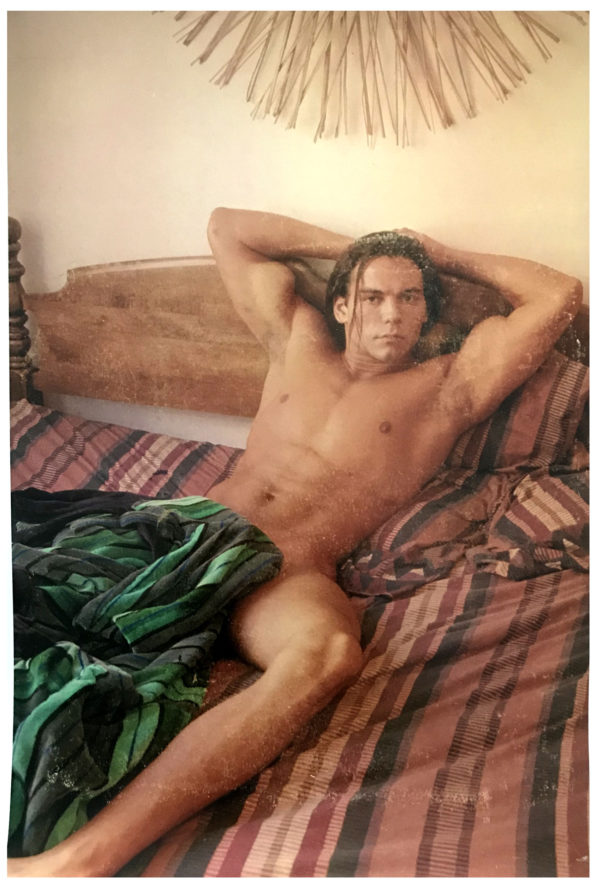 """Nude Male Model - Bedroom Eyes - Print 17x11"""""""