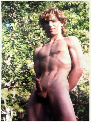 Nude Male Model - Wood in the Forest - Print 16x11""