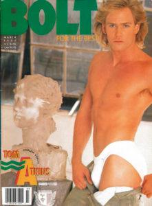 BOLT Magazine ( March 1990 ) Gay Adult Magazine