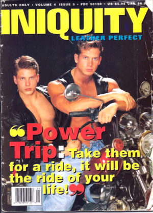 INIQUITY LEATHER PERFECT (Volume 4 #5 - 1995) Gay Leather Magazine