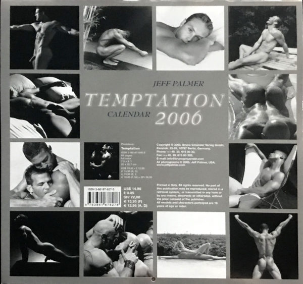 Jeff Palmer TEMPTATION 2006 Calendar