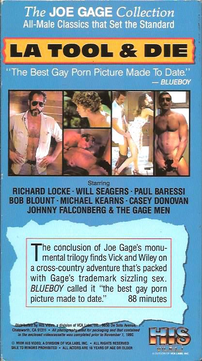 Vintage VHS Tape: JOE GAGE - LA TOOL & DIE