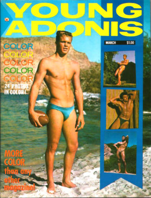 YOUNG ADONIS Magazine ( March 1963 ) Vintage Gay Adult Magazine