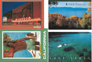 CALIFORNIA, NEVADA - Set of 4 Vintage Postcards