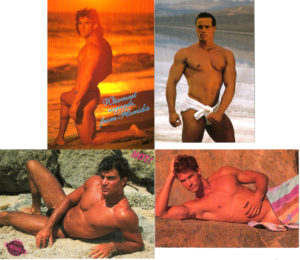 BEACH BODS - Set of 4 Vintage Postcards