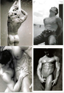 B&W NUDE MALE BODS - Set of 4 Vintage Postcards