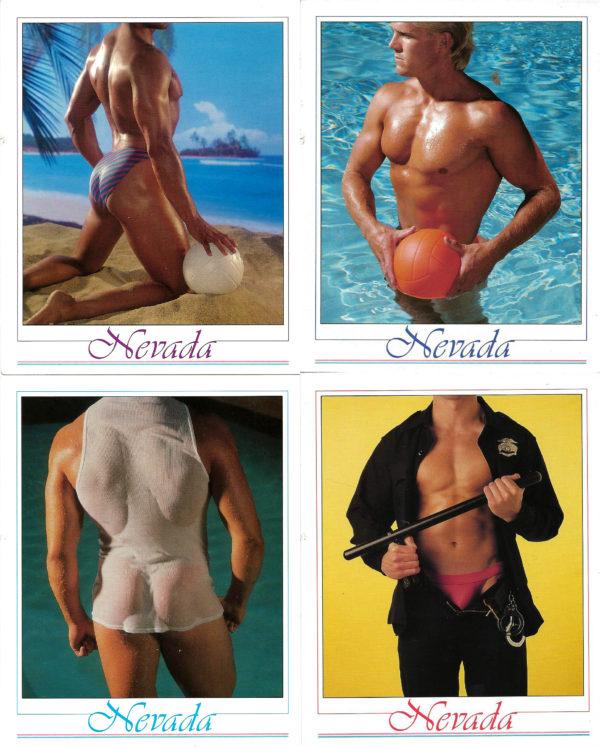 NEVADA - Set of 4 Vintage Postcards