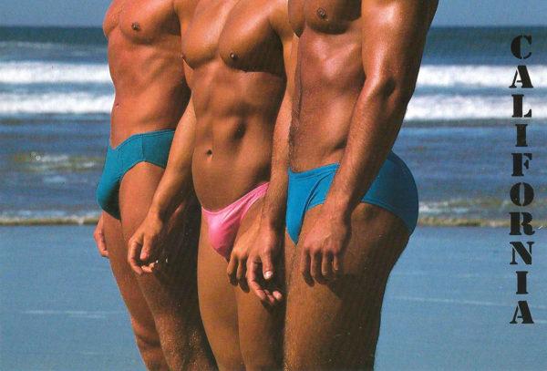 CALIFORNIA MEN – Set of 5 Vintage Postcards