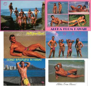 HAWAII BEACH BODS - Set of 6 Vintage Postcards