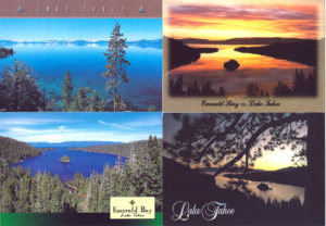 LAKE TAHOE - Set of 4 Vintage Postcards