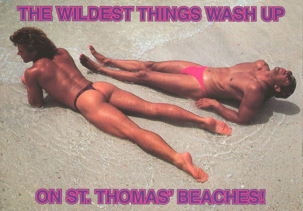 BEACH BUMS - Set of 4 Vintage Postcards