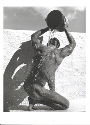 SHOWER PALM BEACH NUDE - Greeting Card (BLANK)