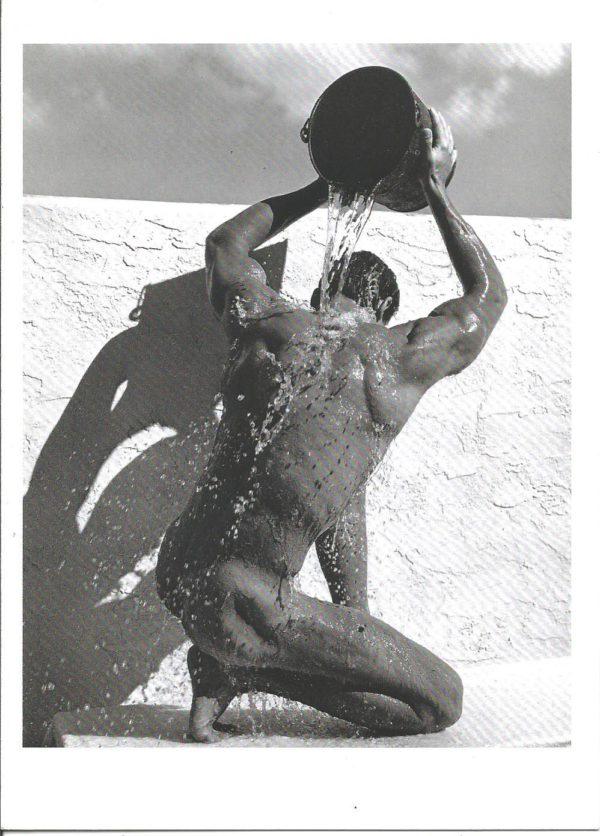 SHOWER PALM BEACH NUDE - Greeting Card (BLANK)