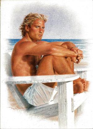 BLONDE BEACH BOY - Greeting Card (BLANK)