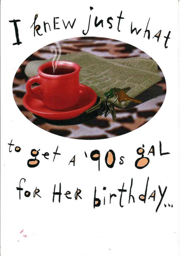 90's HUNK - Birthday Card