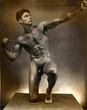 """HERO -(Brue of LA) Nude Vintage Silver Gelatin Print 9.5x7.5"""""""