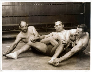 "Rare 1920's wrestling photo - Italy - Silver Gelatin Print 10x8"""
