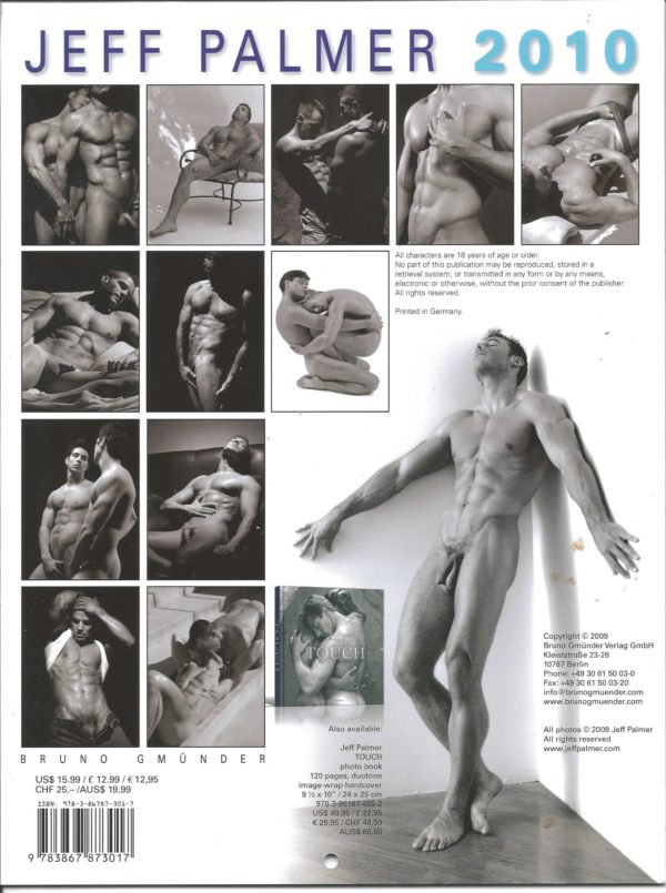 """RARE Jeff Palmer 11 x 8 inch """"2010 Calendar"""". One of the more celebrated, truly fine art photographers in the industry, showcases a way with the lens that is classic, transcending time and trend. This calendar is for the avid jock lover! Condition: Excellent Paperback: Flip-Calendar Publisher: Jeff Palmer Title: Jeff Palmer 2010 Calendar"""