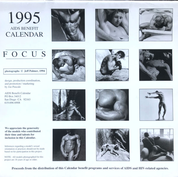 Jeff Palmer FOCUS on the male nude 1995 Calendar