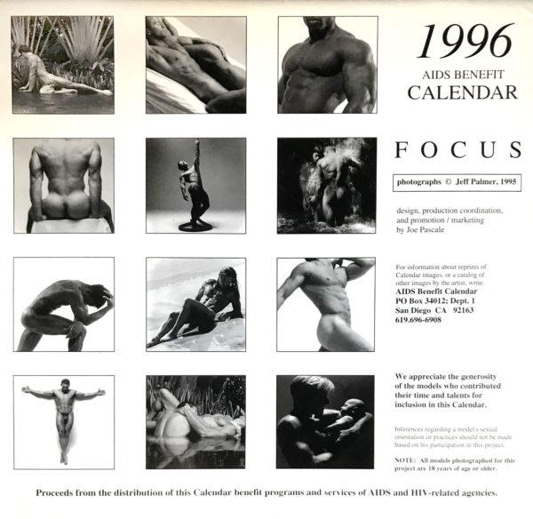 Jeff Palmer FOCUS on the male nude 1996 Calendar
