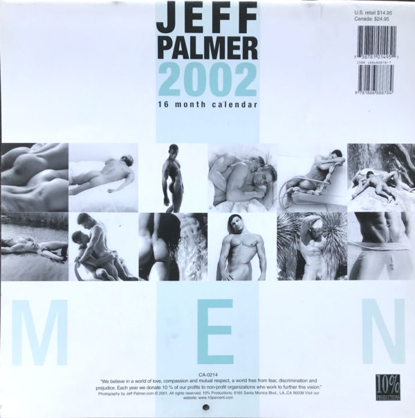 Jeff Palmer MEN 16 Month Male Nude 2002 Calendar