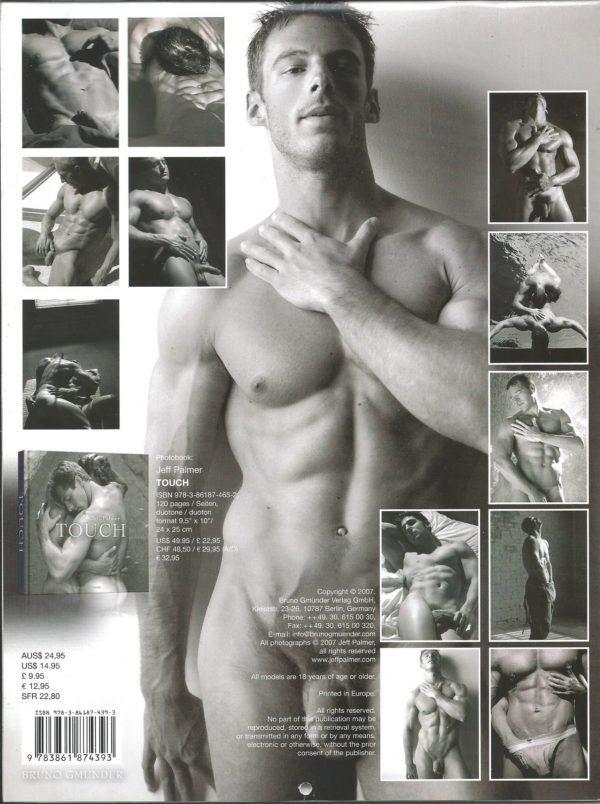 """RARE Jeff Palmer 11 x 8 inch """"TOUCH Calendar"""". One of the more celebrated, truly fine art photographers in the industry, showcases a way with the lens that is classic, transcending time and trend. This calendar is for the avid jock lover! Condition: Excellent Paperback: Flip-Calendar Publisher: Jeff Palmer Title: Jeff Palmer TOUCH 2008 Calendar"""