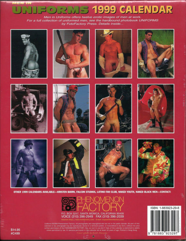 Men in UNIFORMS 1999 Calendar