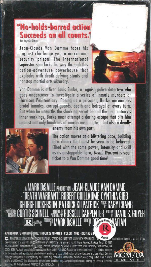 Vintage VHS Tape: DEATH WARRANT