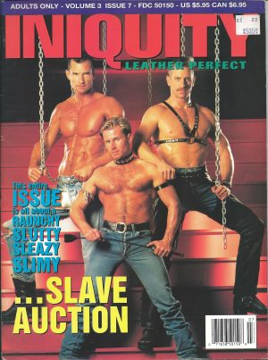 INIQUITY LEATHER PERFECT (Volume 3 #7 - July 1994) Gay Leather Fetish Magazine