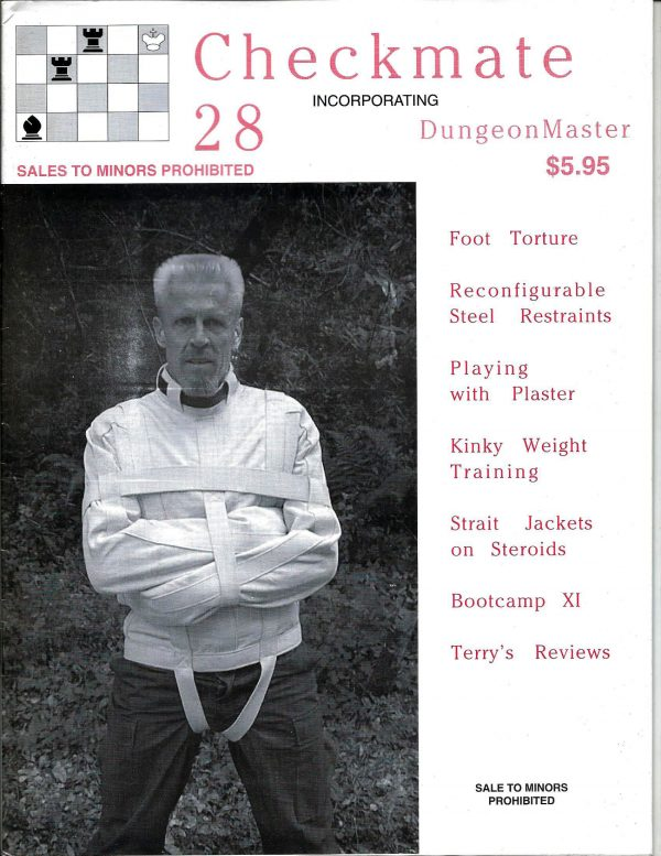 CHECKMATE 28 Gay Magazine Incorporating - Dungeon Master - August 1999