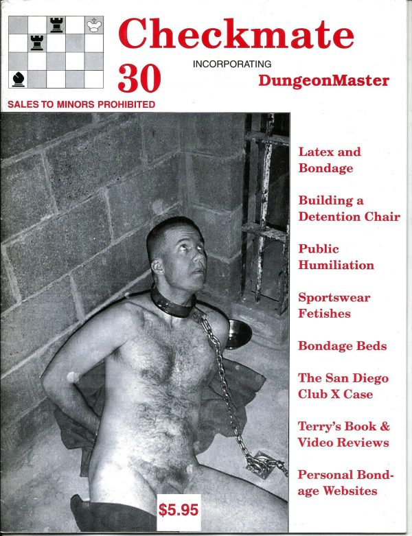 CHECKMATE 30 Gay Magazine Incorporating - Dungeon Master - February 2000