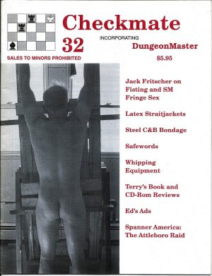 CHECKMATE 32 Gay Magazine Incorporating - Dungeon Master - August 2000
