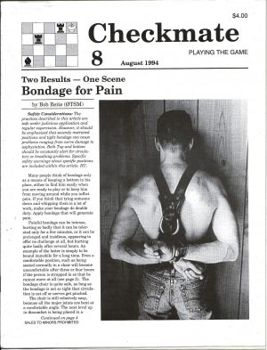 CHECKMATE 8 Gay Magazine Incorporating - Playing the Game - August 1994E 8 Gay Magazine Incorporating - Playing the Game - August 1994