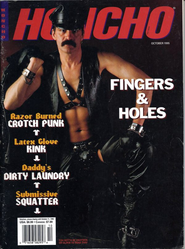 HONCHO Magazine (October 1995) Gay Male Digest Magazine
