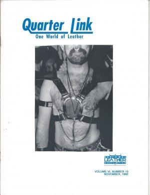 Quarter Link: One World of Leather - Volume 6, Number 10, November 1992