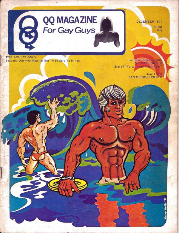 QQ Magazine (Queens Quarterly) December 1971 - For Gay Guys