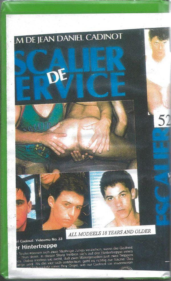 Vintage VHS Tape: ESCALIER DE SERVICE un Film de Cadinot